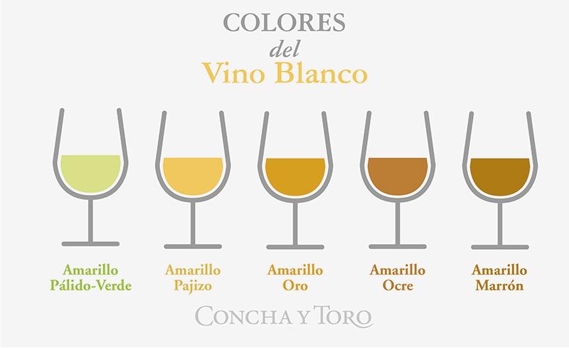 Colores del vino blanco