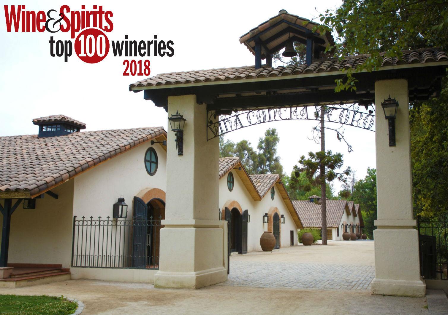 Concha y Toro premiada novamente como uma das 100 Melhores Vinícolas do Ano pela Wine and Spirits