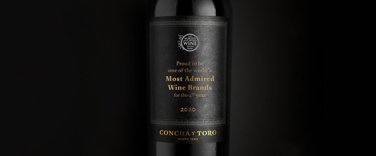 Orgulhosos de ser novamente uma das Marcas de Vinho mais Admiradas do Mundo